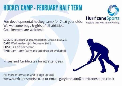 Hockey Camp, February Half Term 2014