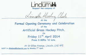 Lindum Pitch Opening Invitation