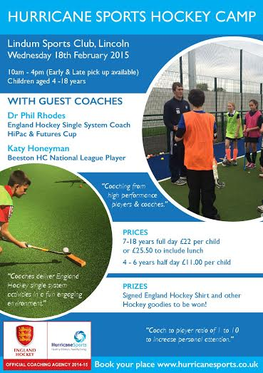 Hurricane Sports Half Term Hockey Camp Feb 2015