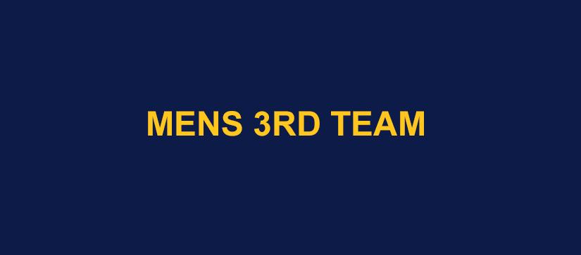 Mens 3rd Team