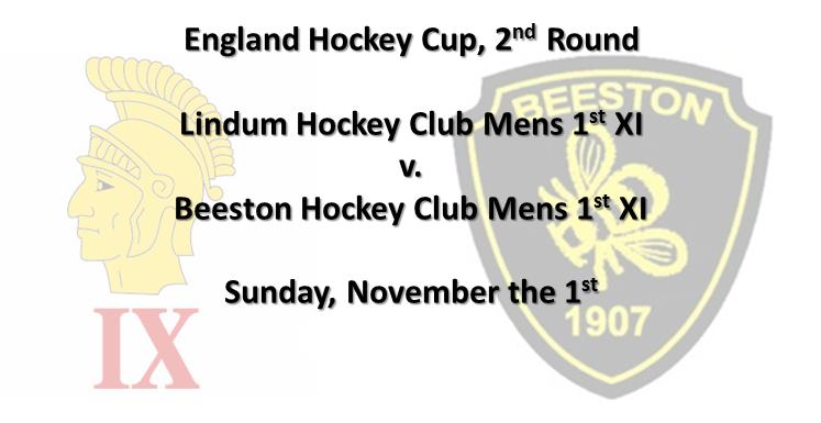 England Hockey Cup Lindum Hockey Club v Beeston, November the 1st 2015