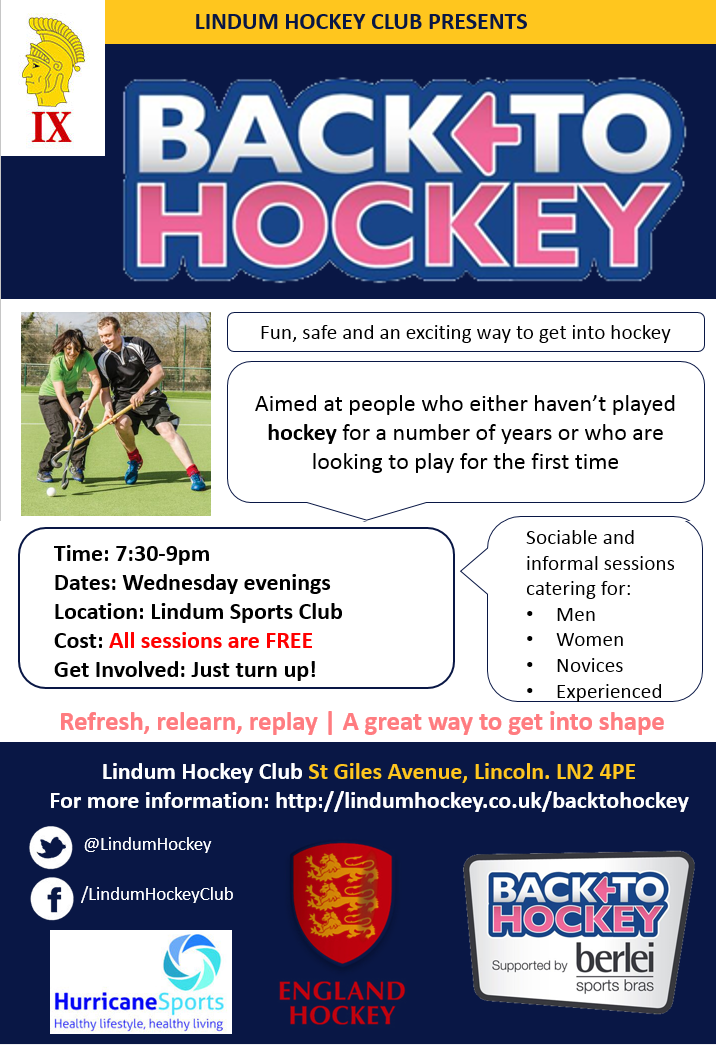Back To Hockey at Lindum Hockey Club