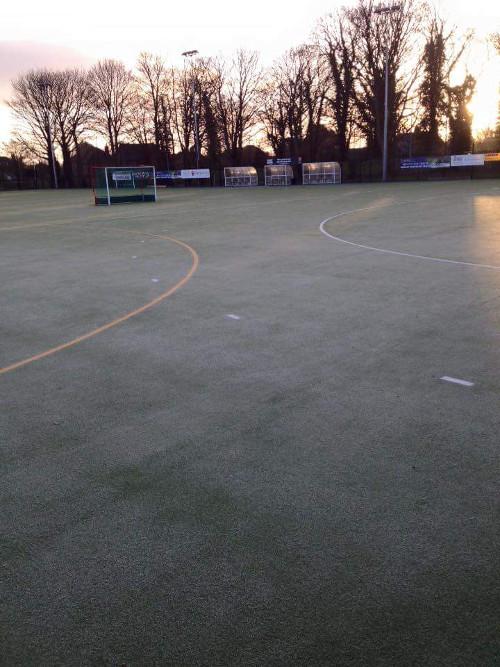 Lindum Sports Association Pitch - Frozen