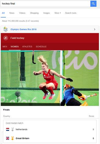 Google: Olympics 2016