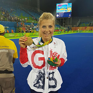Georgie Twigg with Gold Medal