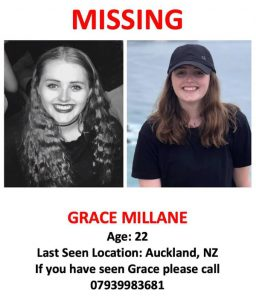 Grace Millane - Missing since December the 1st