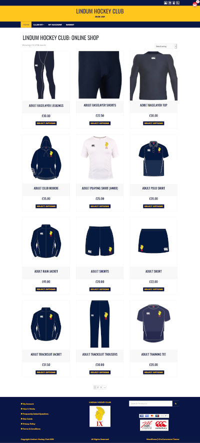 Lindum Hockey Club Online Shop